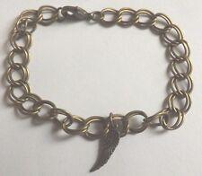 bracelet bronze 18 cm aile d'ange 18x5mm