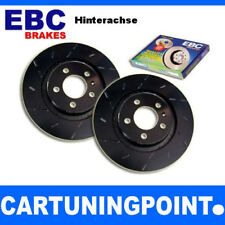 EBC Discos de freno eje trasero negro Dash Para Audi A6 4b, C5 usr1417