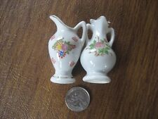 Vintage Miniature Urn and Pitcher Marked JAPAN on the Bottom With Floral Pattern