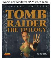 Lara Croft Tomb Raider Trilogy PC 3 Games Windows XP Vista 7 8 10