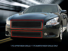 Stainless Steel Black Mesh Grille Combo For 2009-2014 Nissan Maxima