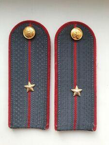 Vintage USSR Militia Shoulder Boards Uniform Sublieutenant Rank Epaulet Police
