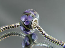 925 STAMPED SILVER SINGLE CORE MURANO BEAD FOR EUROPEAN CHARM BRACELETS (SC 187)