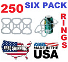 NEW USA 250 Pack Six Pack Ringers for 12 oz Can Beer Soda Liquor Plastic 6 rings