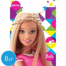 Barbie Party Supplies LOOT BAGS Plastic Genuine Licensed