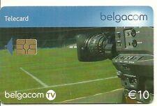 RARE / CARTE TELEPHONIQUE - FOOTBALL FOOT BALLON CAMERA TV BELGIQUE / PHONECARD