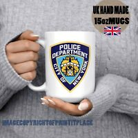 NYC New York City police department badge Large coffee Mug Handmade