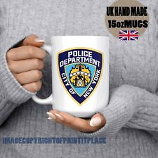 NYC New York City police department badge Large coffee Mug Handmade