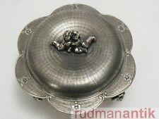 ! qué espléndidas lata con 2 Putten-piel de serpiente decoración-plata 800 para italia 1930