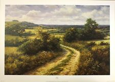 "DAVID DIPNALL ""Byway"" countryside path OUT-OF-PRINT! SIZE:50cm x 75cm  RARE"