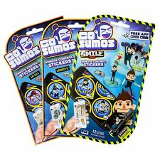 GO SUMOS REMOTE CONTROL STICKERS LOT OF 3 PACKS AR-SEA GROBOTS SMILE
