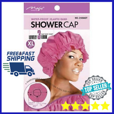 """Magic shower cap waterproof hair protection bath extra large 21"""" Assorted Colors"""