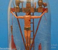 magnifique bouteille de la passion 19ème bois sculpté - art populaire - religion