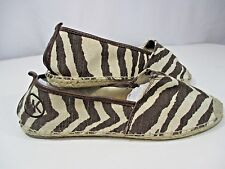 MICHAEL KORS Meg Animal Print Espadrille Flats SIZE 9.5 Lightweight and confy!!