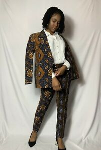 African Print Women's Blazer and trouser Suit Summer Occasion Party workwear