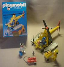 Vintage 70 Geobra Playmobil 3247 ADAC aire helicóptero de rescate y embalaje 1974
