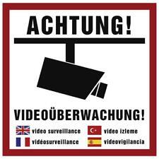 3 x Aufkleber Achtung Videoüberwachung Hinweisschild Warnaufkleber Kamera