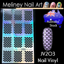 JV203 Mermaid Fish Sale Nail Vinyl Sticker decoration Stencil Vinyls Art Scallop