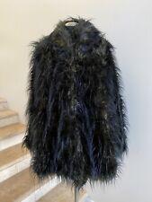 NWT RUNDHOLZ  Faux Fur Coat in Vert Melange, Small