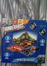 Thunderbirds 10 in 1 3D Puzzles jigsaws plus 22 slot in pieces, new in packaging
