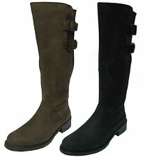 Clarks Women's Knee High Boots 100% Leather Zip Shoes