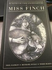 MISS FINCH - Signed by Neil Gaiman  1st/1st HC graphic novel + MadCon Program