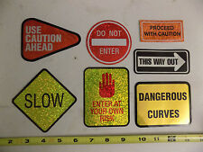 Road Sign Safety Stickers 7 Caution Do Not Enter Dangerous Curves This Way Out