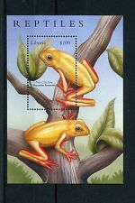 Liberia 2002 MNH Reptiles 1v S/S Amphibians Frogs Arum Lily Frog Stamps
