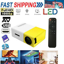 1080P HD Multimedia Portable Projector LED Home Theater Cinema for PC Phone