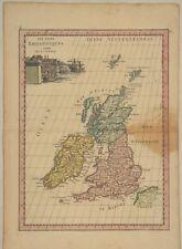 IRLAND NORDIRLAND Eire Original  Landkarte um 1780 Dublin England London Europa