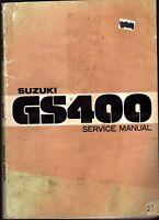 1977 SUZUKI MOTORCYCLE GS400 SERVICE MANUAL  (689)