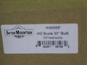 "HO Inter mountain 100 33"" Brass Wheelsets"