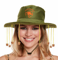 Australian Hat with Corks - Aussie Fancy Dress Cork Hat Crocodile Dundee Costume