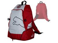 Puma Tunesien Fan-Rucksack v5.06 Backpack Tunisia Fußball-Tasche rot-weiß