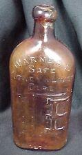 Vintage Warners Safe Kidney Liver Cure Bottle Amber Glass Rochester, N.Y.
