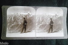 STB009 Suisse defile grimsel Furka STEREO albumen Photography Stereoview