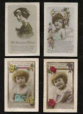 GB 1920s BIRTHDAY PPCs BROMIDES GLOSSY CHILDREN 8 CARDS