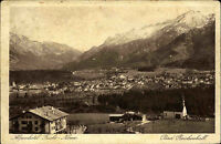 Bad Reichenhall alte Postkarte ~1920/30 Panorama Partie am Alpenhotel Fuchs Nonn