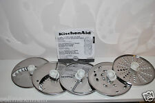 NEW 5 Discs Set for KitchenAid 9 or 12 Cup Food Processor, ONLY DISCS & Manual
