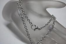 Judith Ripka Necklace Oval Link Diamonique Cubic Zirconia Necklace .925 Silver