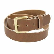 "Genuine Buffalo Leather Belt_1 1/2"" wide_Amish Handmade_SOLID BRASS Buckle_131"