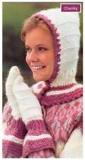 Ladies' Chunky Balaclava and Mitts Vintage Knitting Pattern 10022