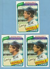 1980 TOPPS GEORGE BRETT #450 Lot x 3 Kansas City Royals