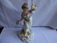 "Royal Crown Derby Figurine From Four Seasons ""Spring"" 1980 - J. Aston 24 cm Tall"
