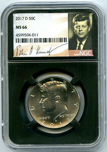 2017 D KENNEDY NGC MS66 HALF DOLLAR RETRO SIGNATURE LABEL RETRO BLACK CORE