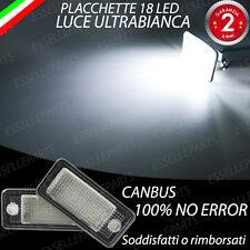 COPPIA PLACCHETTE 18 LED LUCI TARGA CANBUS AUDI A4 B7 AVANT  + CABRIO