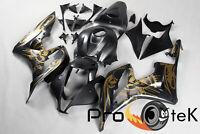 For 2007-2008 Honda CBR600RR Graffiti Black Gold ABS Plastic Fairings Bodywork
