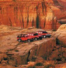 Big 1996 Jeep Grand/CHEROKEE Catálogo/CATALOG con color Gráficas: 4wd, 4x4