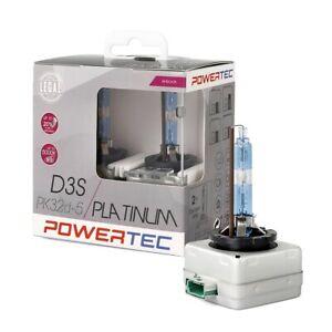 2 LAMPADE XENON A RICAMBIO D3S Powertec Platinum +130% 5000K,D3S DUO