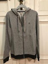 CK Calvin Klein Jeans Sweatshirt Kapuzen Pullover Gr. S Herren Grau 100% Cotton